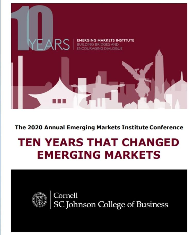The 2020 Annual Emerging Markets Institute Conference