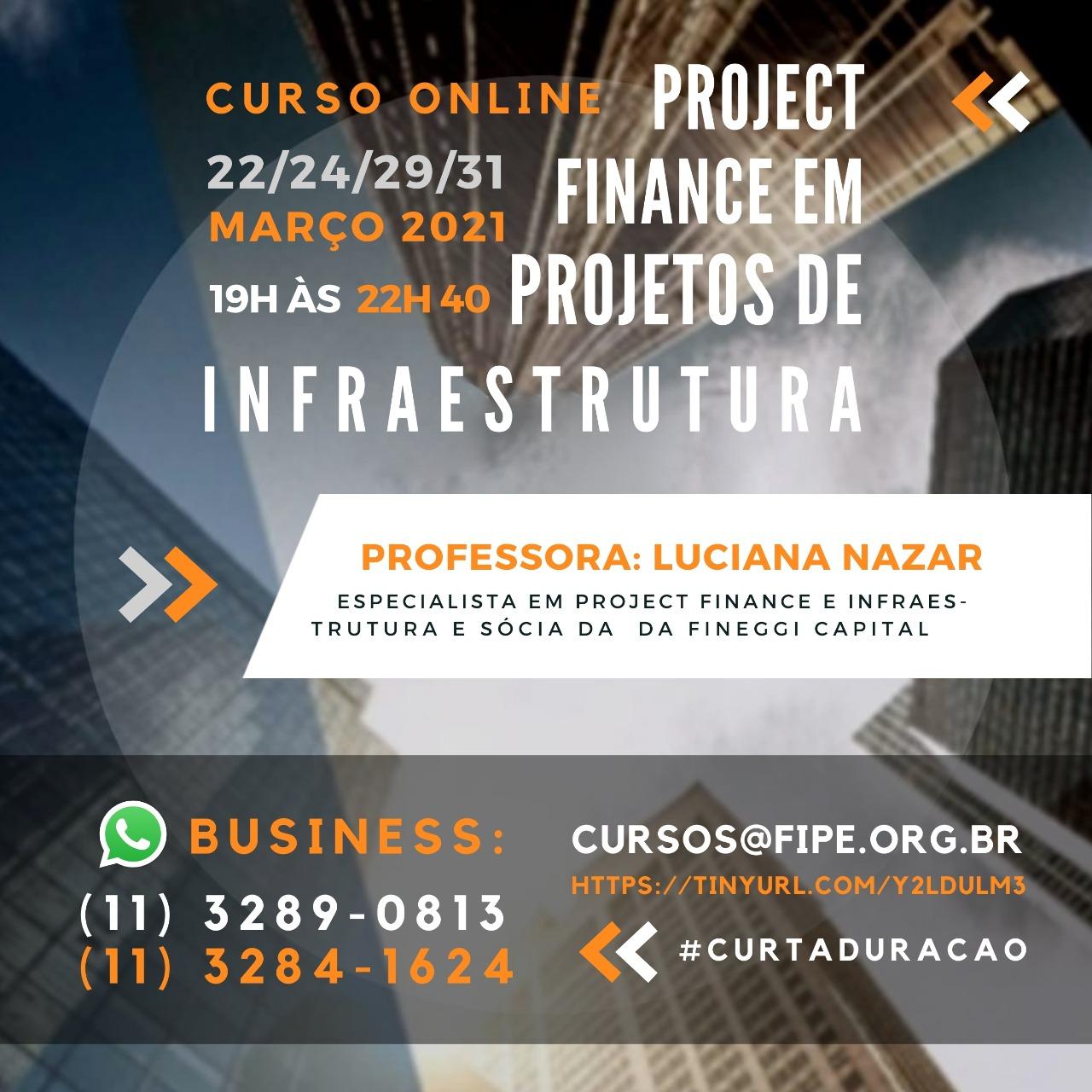 Novo curso de Project Finance- Março 2021